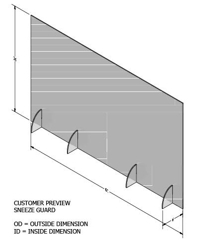 "CoronaGuard™ Premium Shields (36""X60"")"