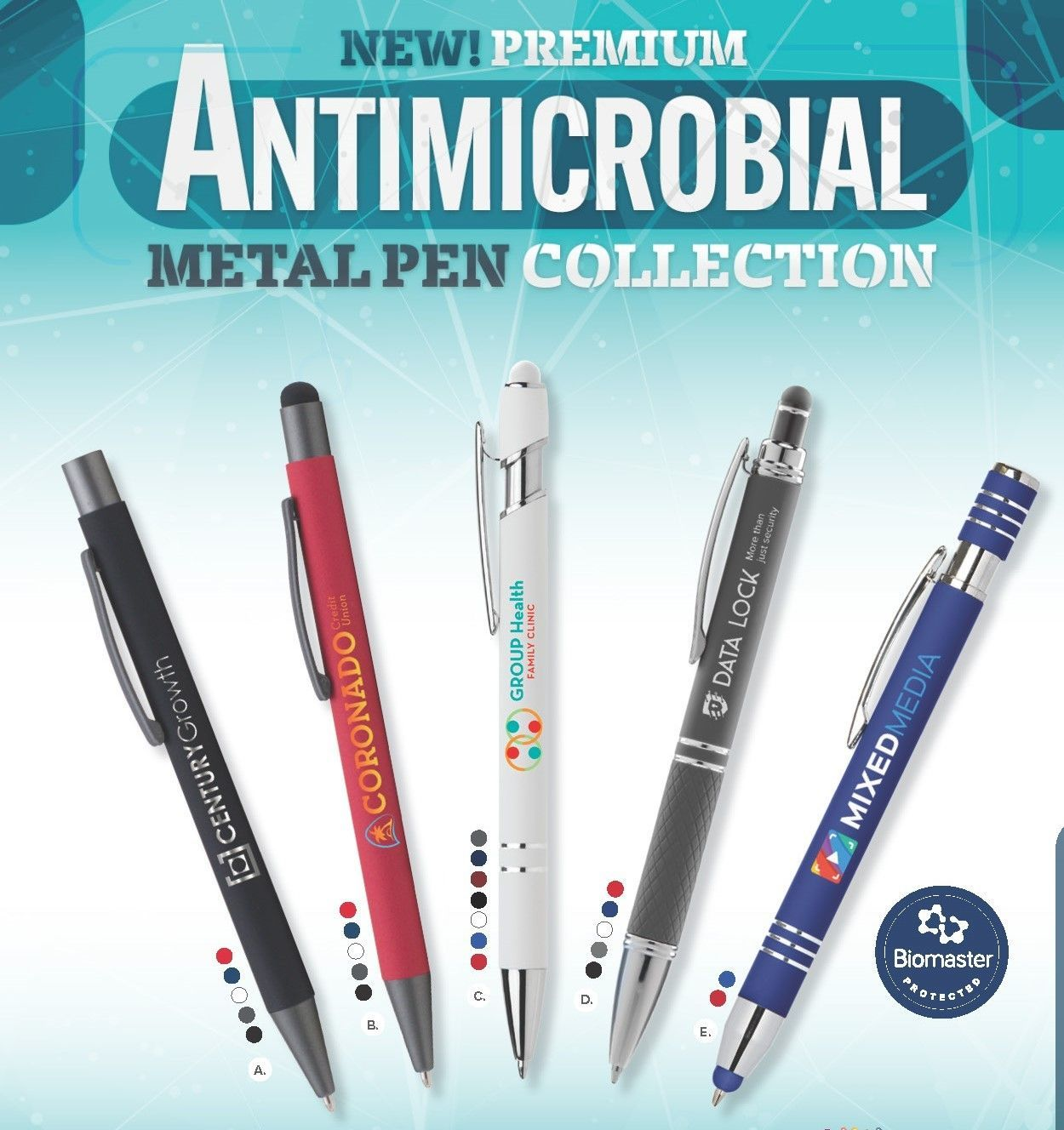 Antimicrobial Metal Pen Collection