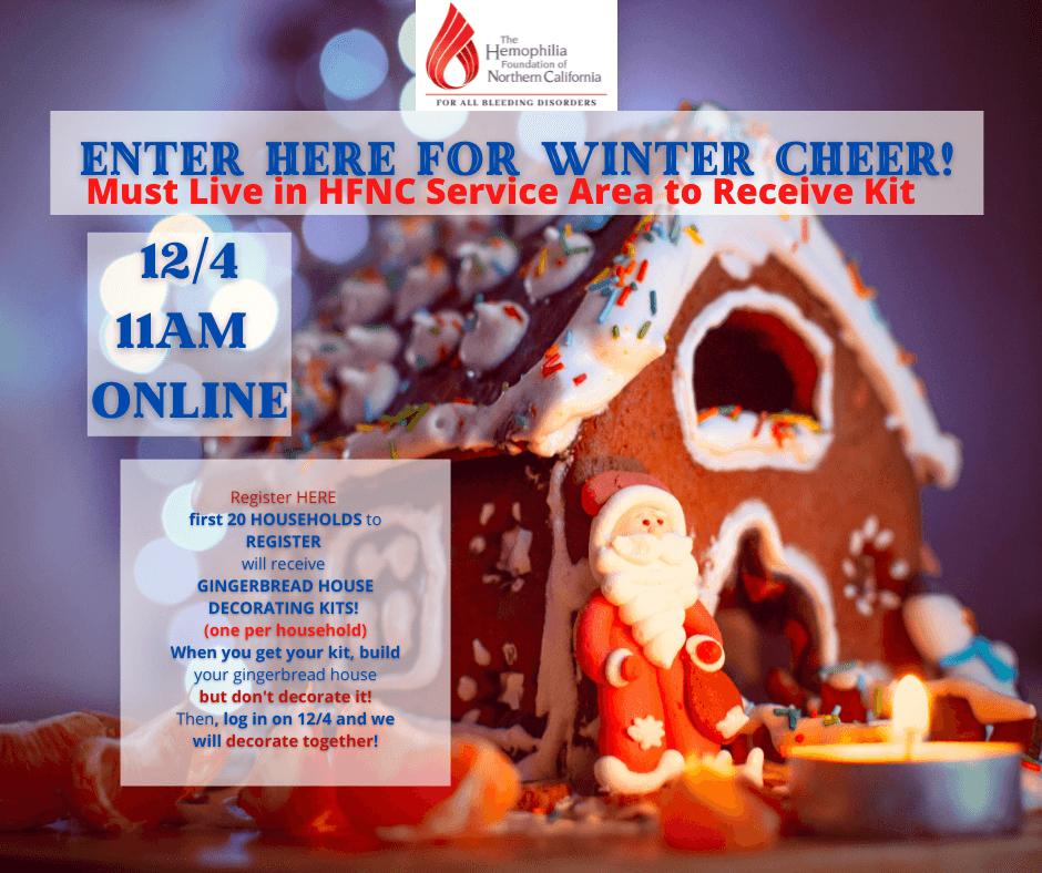 Winter Cheer Gingerbread House Decorating Event / Evento de decoración de casitas de jengibre Winter Cheer
