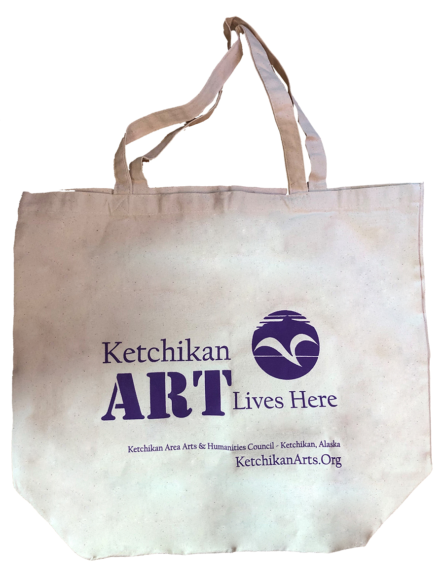 Art Lives Here canvas tote