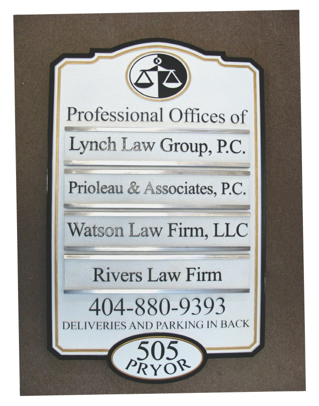 A10530 - Attorney Office Directory Sign with Changeable Nameplates