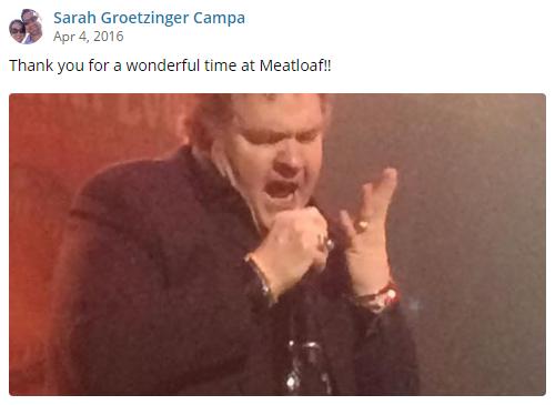 Meat Loaf Concert 2016