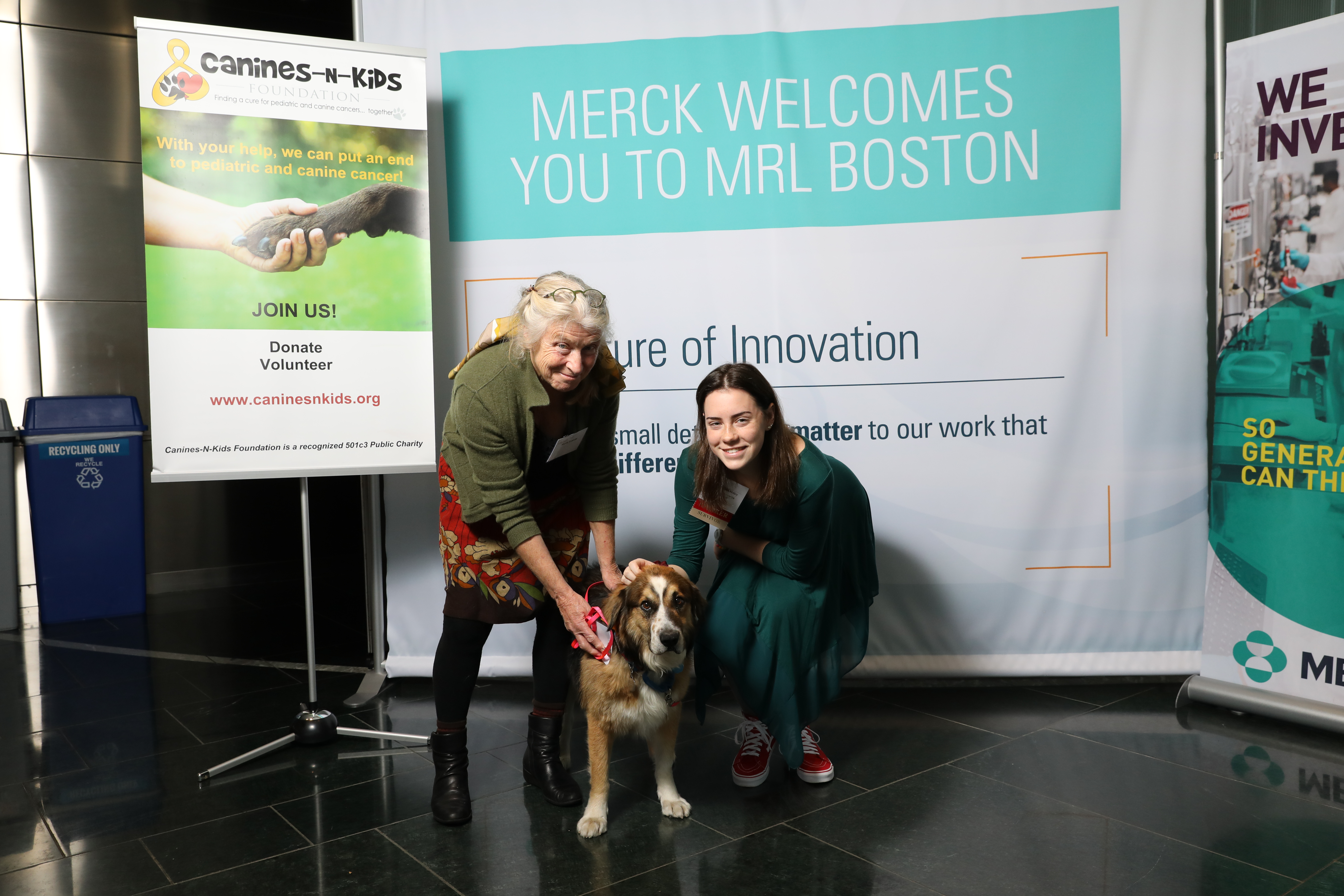 Zucchi and Mary  - 2018 Canine & Childhood Cancer Warriors