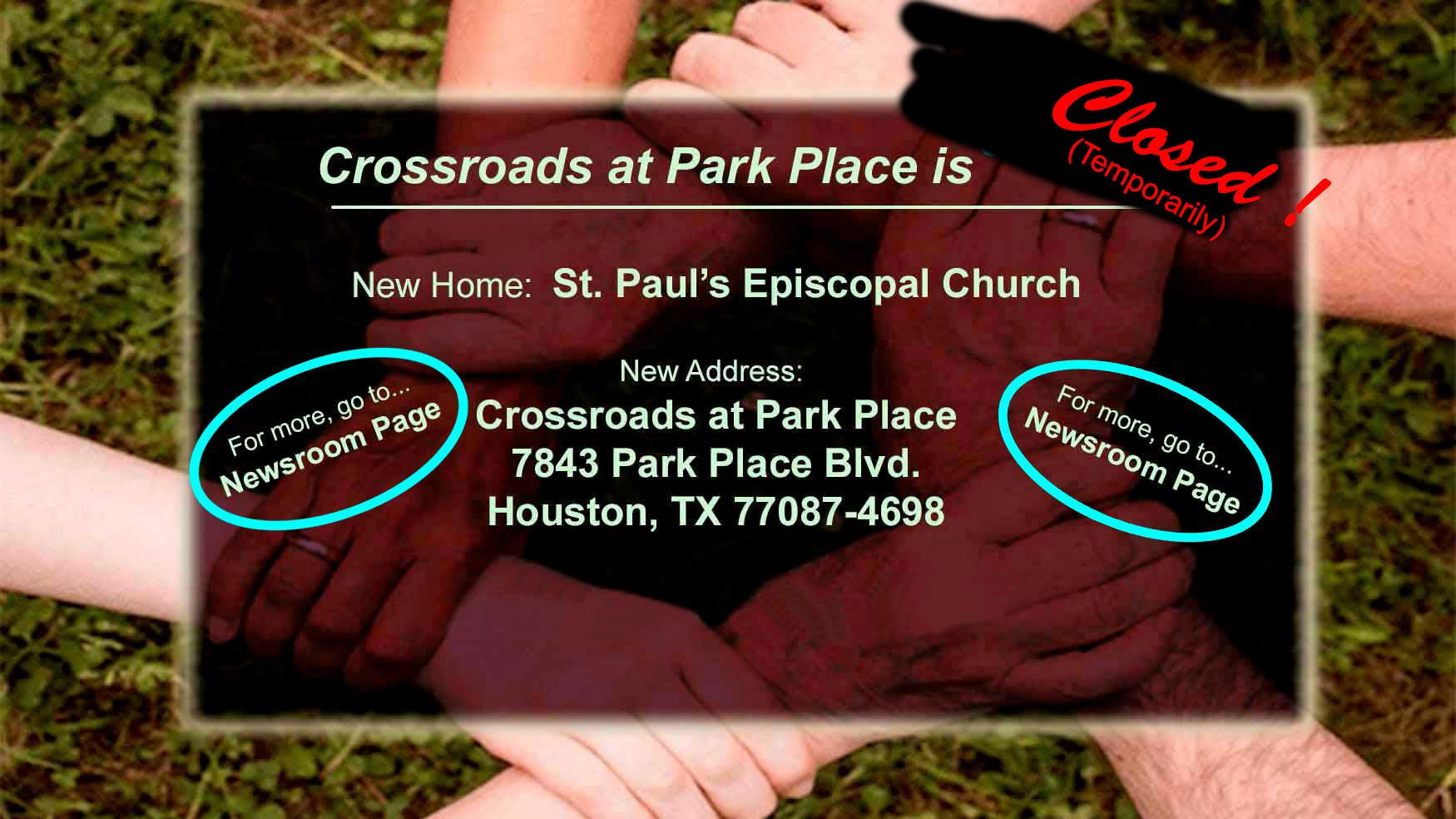 Crossroads at Park Place is Closed Temporarily