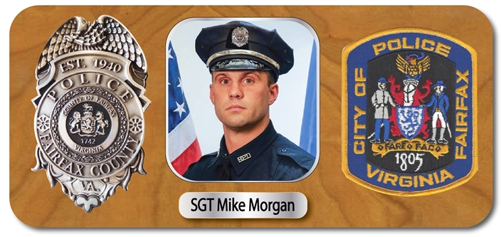 EA-1090 - Mahogany Plaque for Policeman, with Photo, Badge and Shoulder Patch