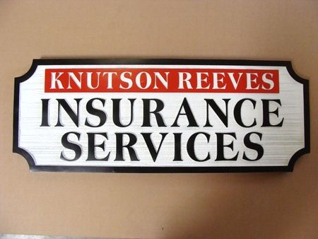 C12501 - Sandblasted Wood Insurance Agent Sign
