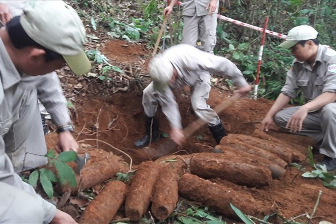 27 artillery shells successfully removed in Quang Tri