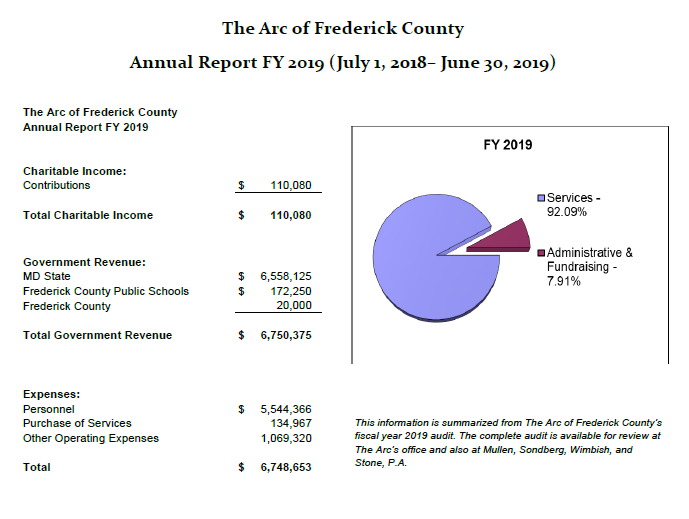 FY 2013 Annual Report Financial Page