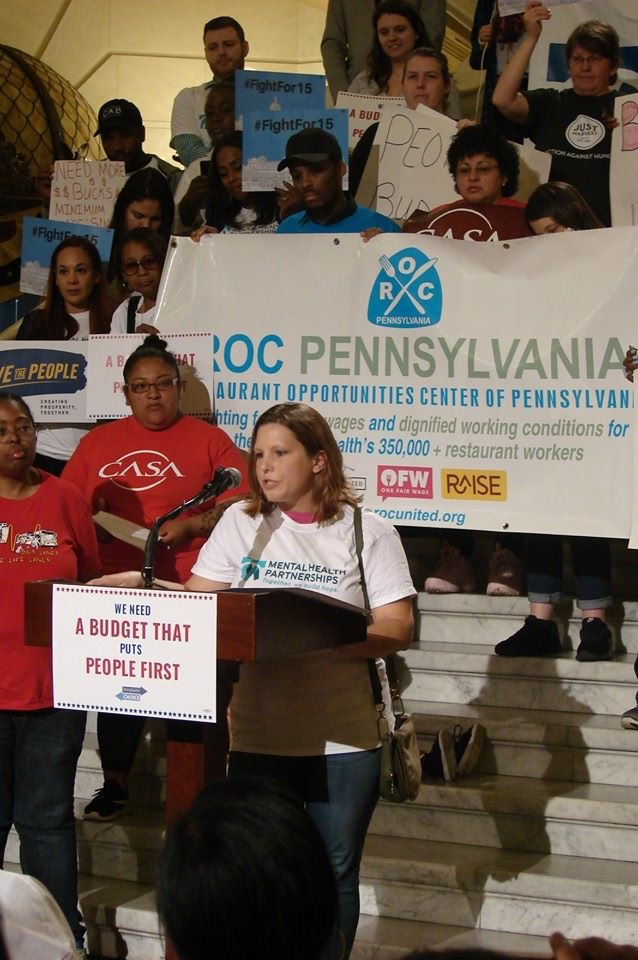 Advocacy Director Kim Renninger Speaks at Rally in Harrisburg