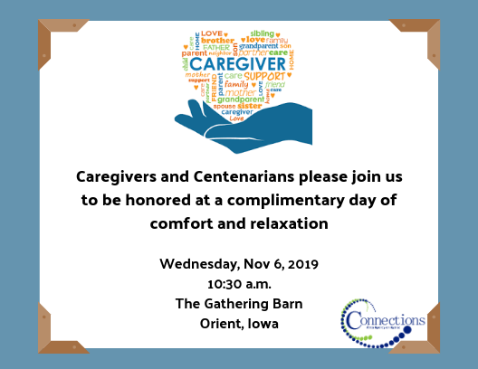 Orient: Caregiver and Centenarian Day of Comfort and Relaxation
