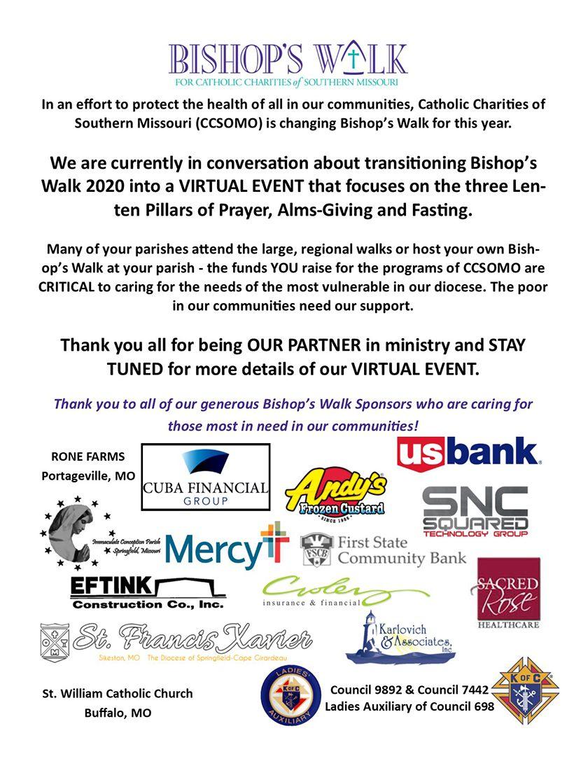Talks Underway to Convert 2020 Bishop's Walk Into Virtual Event