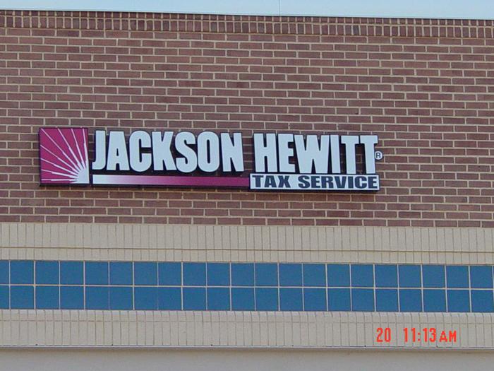 Jackson Hewitt Storefront Sign