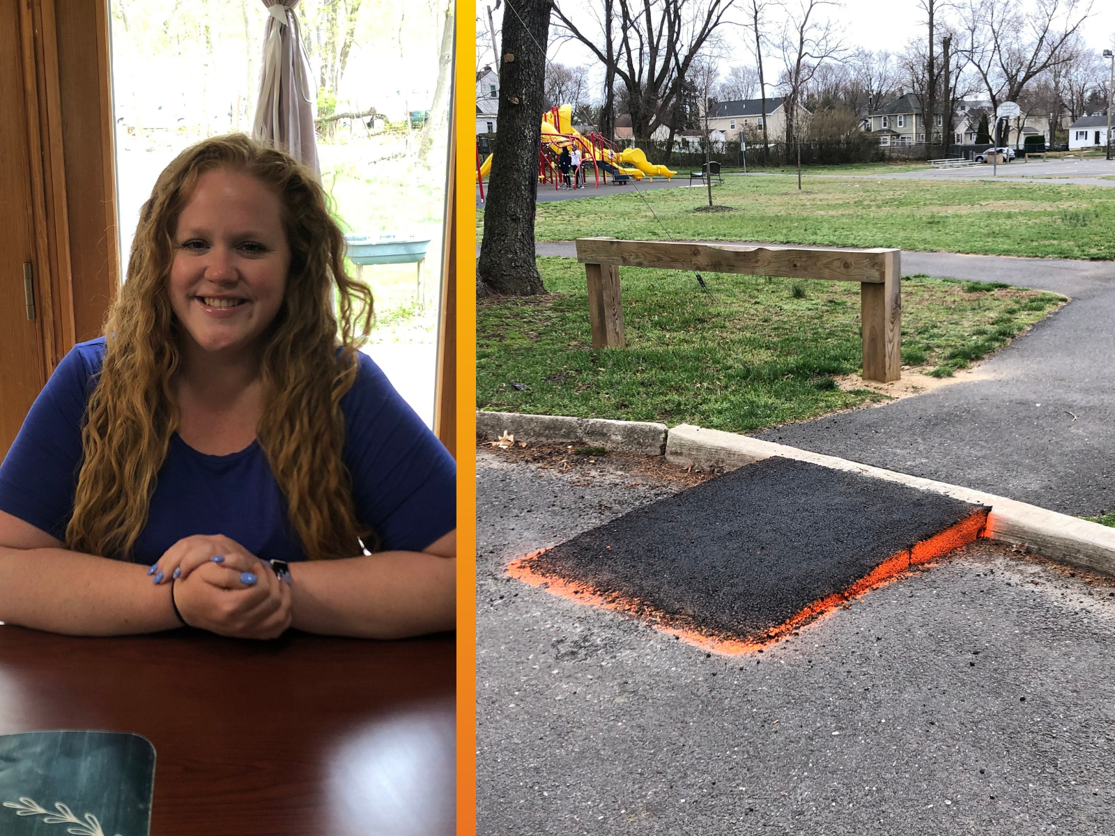 New ramp recently installed at the Hance Park entrance to provide access to those with disabilities.