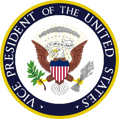 U30094 - Carved 3-D wall Plaque of the Seal of Vice-President of the United States