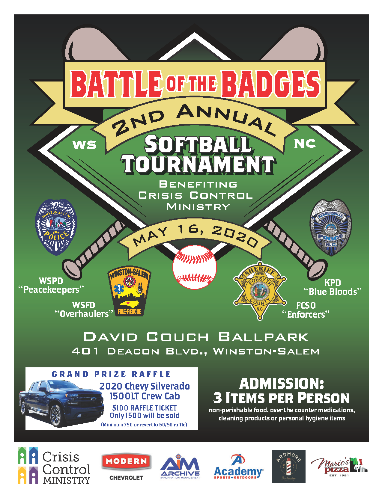 2nd Annual Battle of the Badges