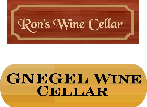 R27390 Redwood and cedar Wine Cellar Wall or Door Plaques