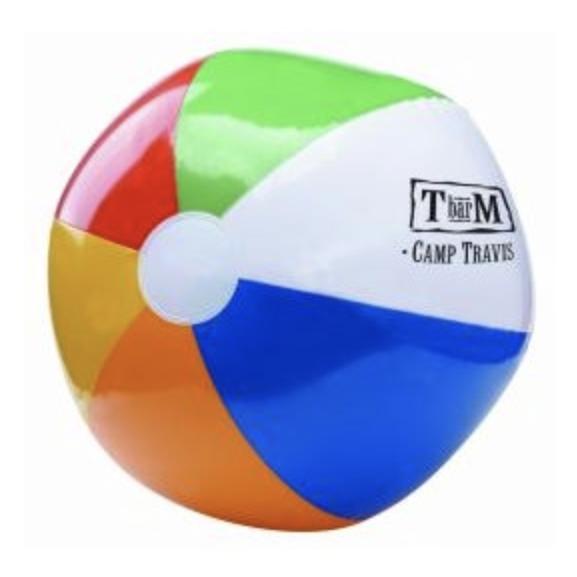 "16"" 6 Color Beach Ball"