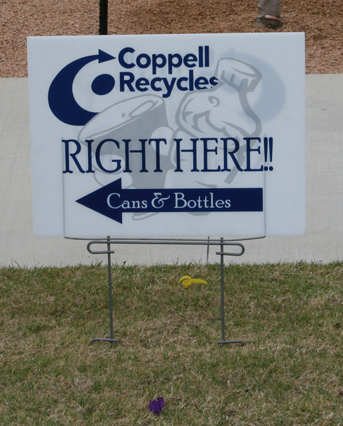 Recycling Yard Sign