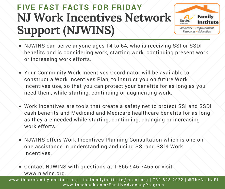 NJ Work Incentives Network Support (NJWINS)