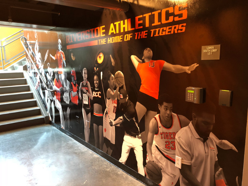 Athletics Wall Mural