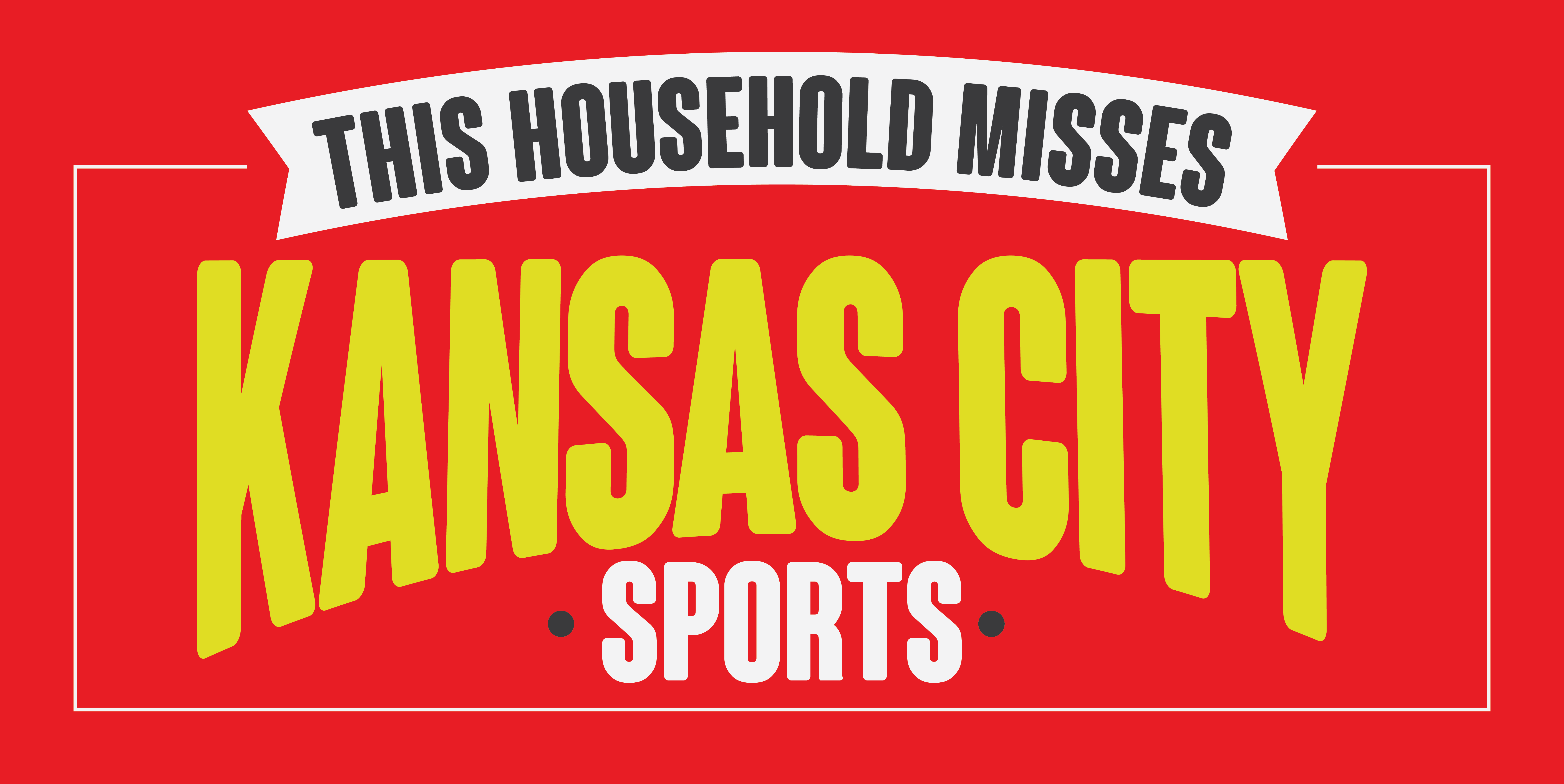 """24"""" x 48"""" I Miss KC Sports Banner - Red"""