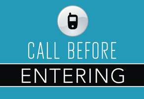 call before entering
