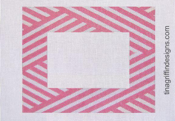 Pink & White Stripe Frame