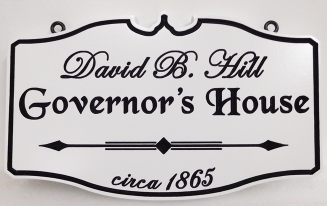 "F15966 - Carved Engraved  Historical David B. Hill  ""Governor's House"" Entrance Sign"