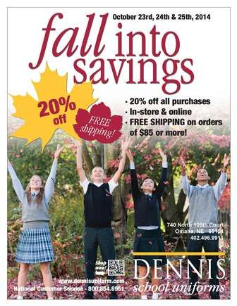 Fall Into Savings - Dennis Uniform Sale!