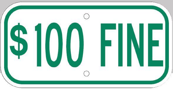 Parking Fine Sign