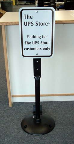 Parking Sign and Stand