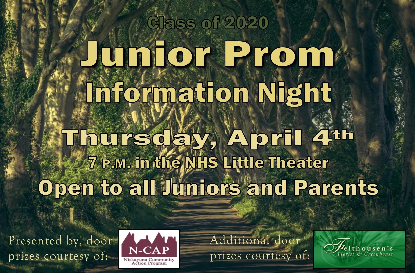 Junior Prom Forum