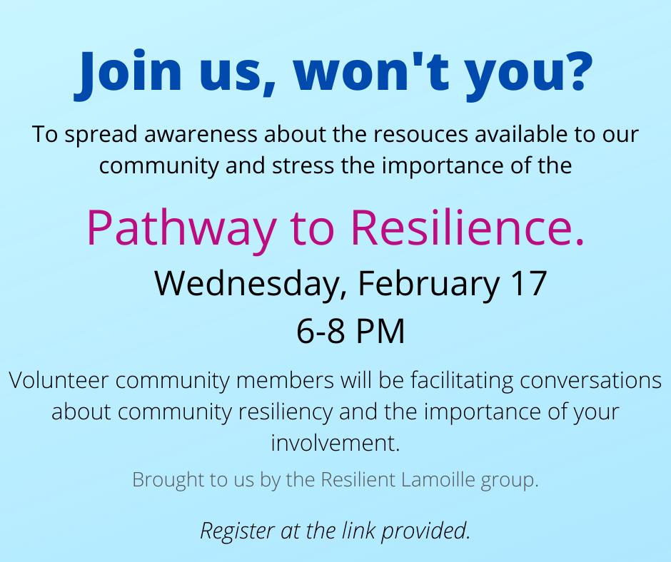 Build a resilient community