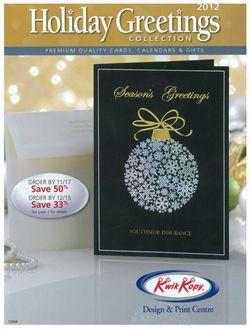 Holiday Catalogue
