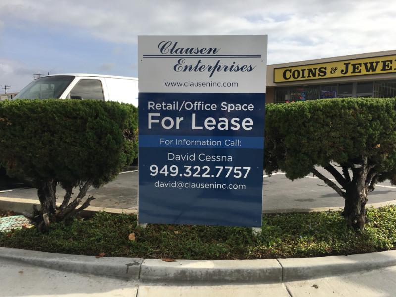 For Lease Signs for Property Managers in Anaheim CA