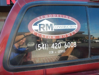 Vehicle window graphics for Contractors in Bend OR