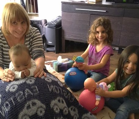 Early Intervention with FRA Physical Therapist, child and siblings