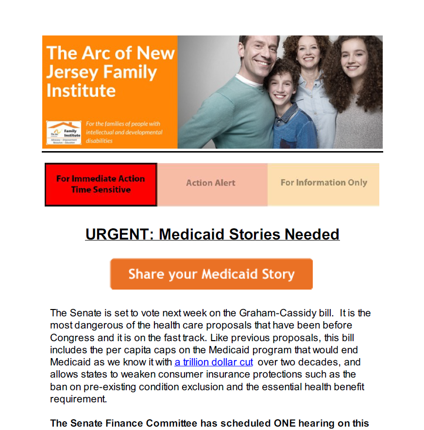 Protect the Lifeline URGENT Medicaid Stories Needed 9.22.2017