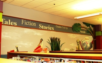 Library Wall Mural 2