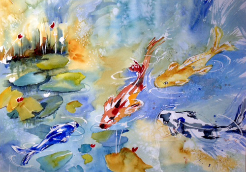 New Art Exhibition Featuring Watercolor Painter VICTORIA BECKERT at Riverhead Town Hall Gallery (posted December 5, 2016)