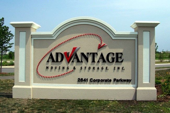 """S28455 - Monument Sign for """"Advantage Moving and Storage Company"""""""
