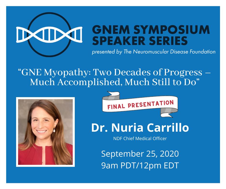 GNEM Symposium Speaker Series: Dr. Nuria Carrillo