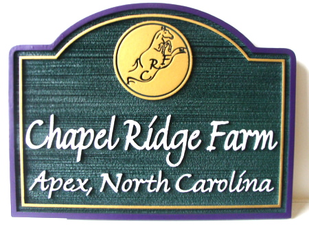 O24233 - Chapel Ridge Farm Sign, Sandblasted and Engraved HDU
