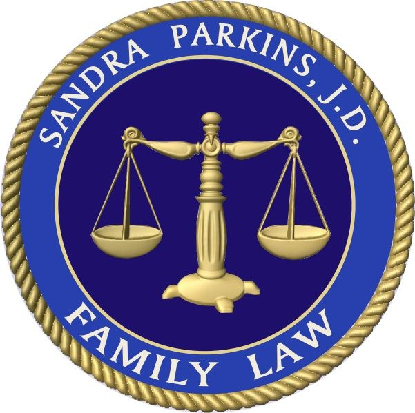 A10196 - Wall plaque for Family Law attorney, with 3-D Gold Justice Scales