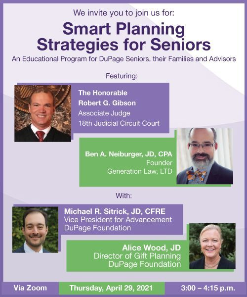 Join Us for our April 29 Webinar: Smart Planning Strategies for Seniors