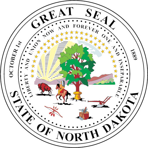 W32390 - Seal of the State of North Dakota Wall Plaque