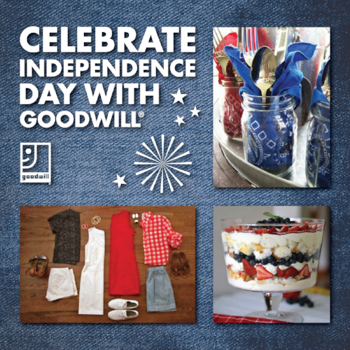 Celebrate Independence Day with Goodwill