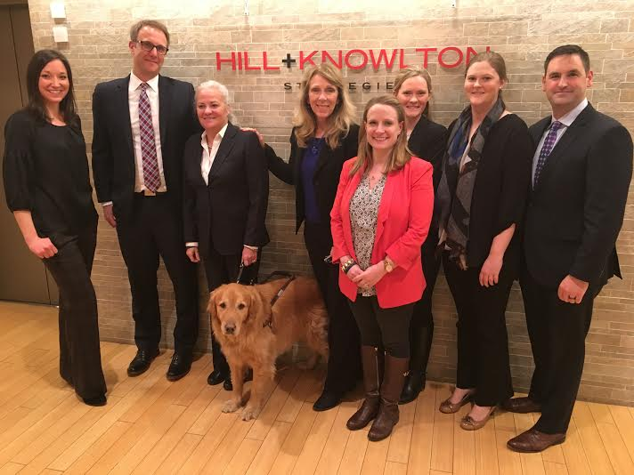 Group photo at Hill+Knowlton