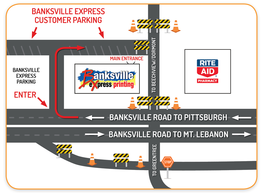 Banksville Express Printing : Road Construction Instructions