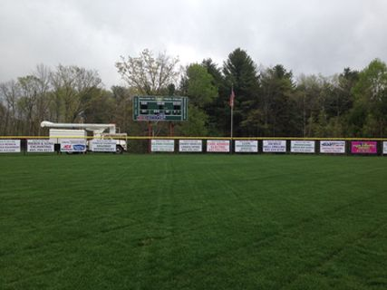 Sponsor Banners on a Ballfield Fence